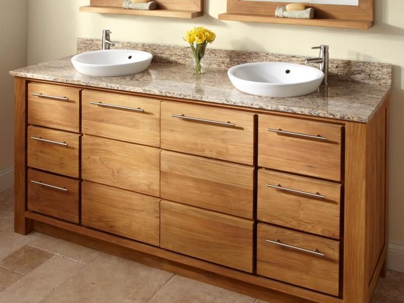 Double Sink Bathroom Vanities With Granite Top