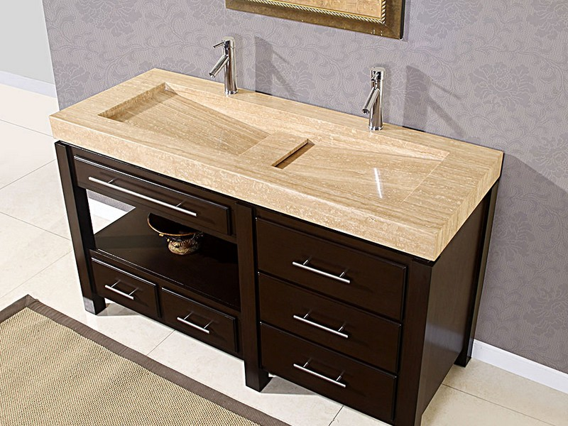 Double Trough Bathroom Sink