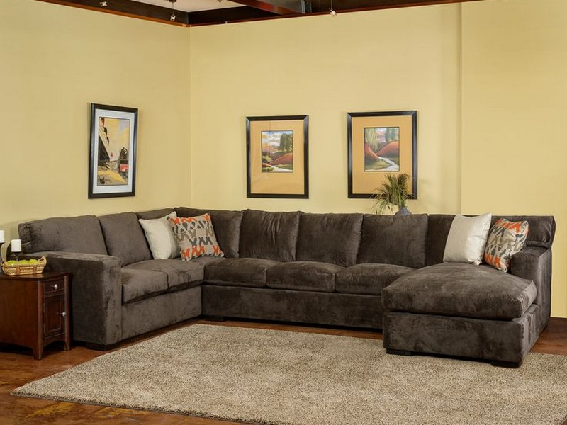 Down Wrapped Sectional Sofa