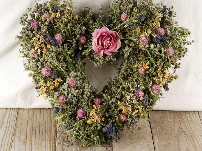 Dried Floral Wreaths And Swags