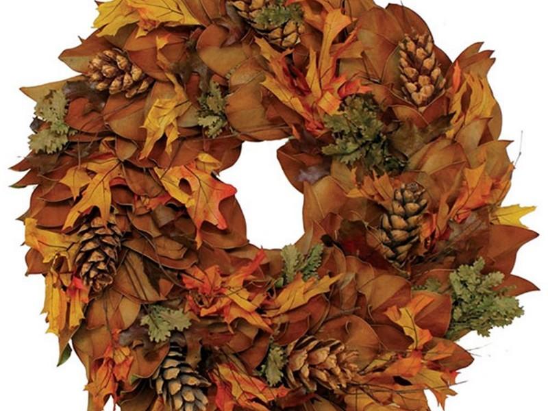 Dried Magnolia Leaf Wreath
