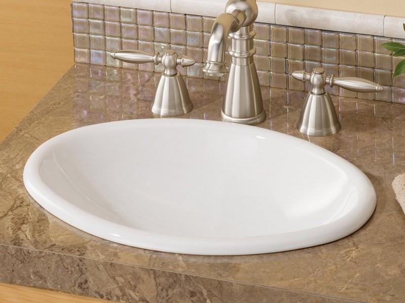 Drop In Bathroom Sinks Oval
