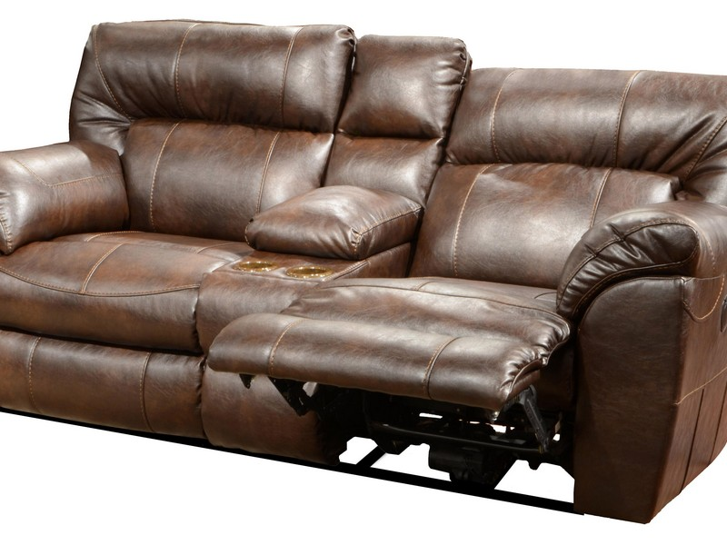 Dual Recliner Loveseat With Console