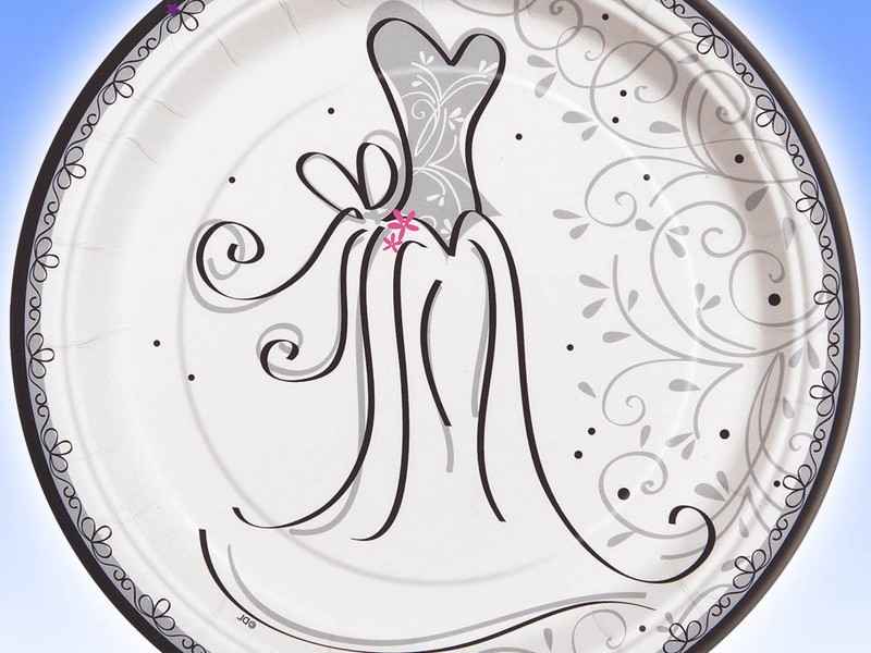 Elegant Paper Plates For Weddings