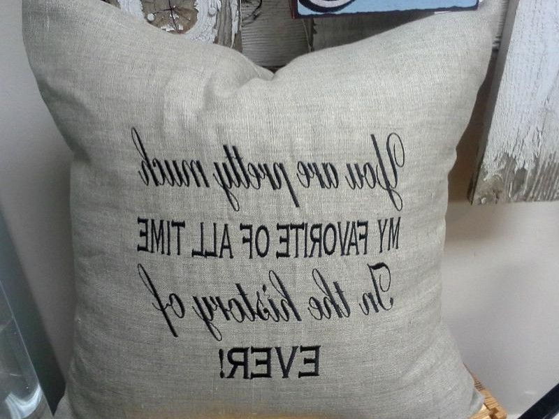 Embroidered Pillows With Sayings