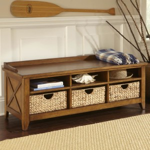 Entry Bench With Cubbies