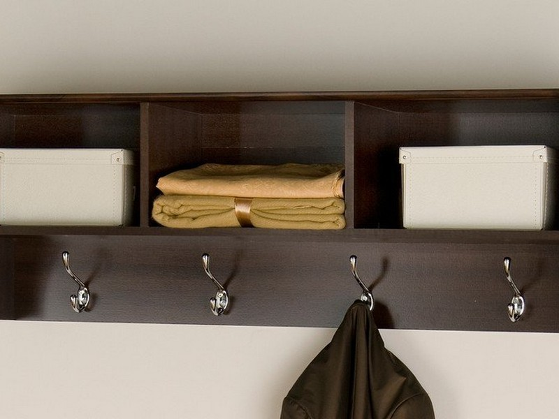 Entry Shelf With Hooks
