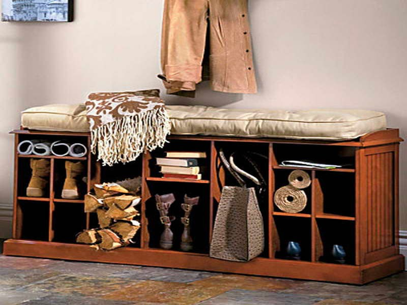 Entry Way Shoe Storage Bench