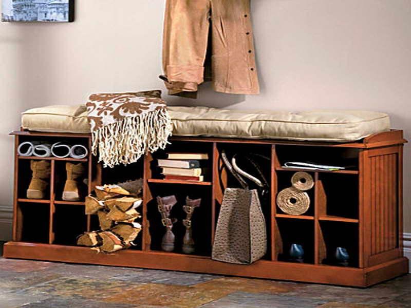 Entry Way Shoe Storage Bench