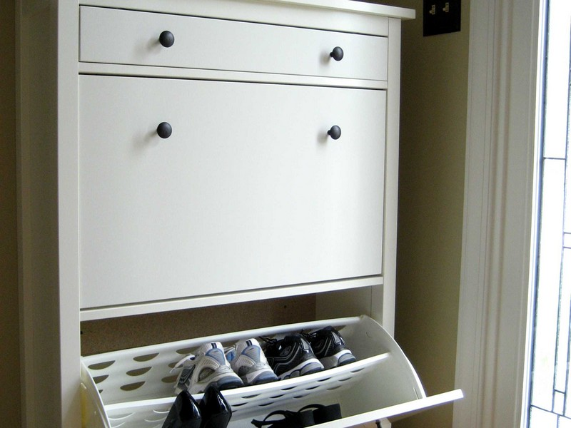 Entryway Storage Cabinet White