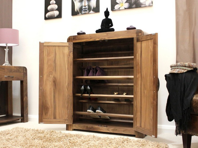 Entryway Storage Cabinet With Doors