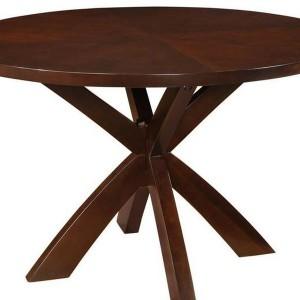 Espresso Round Dining Table