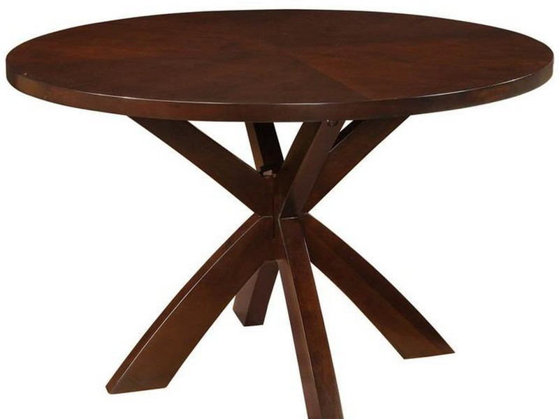 Espresso Round Dining Table