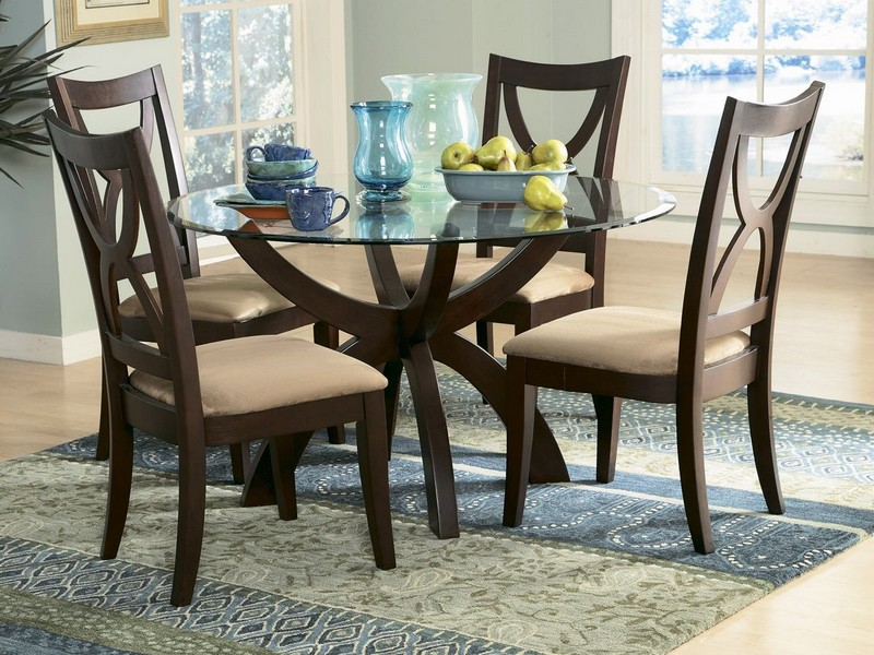 Espresso Round Pedestal Dining Table
