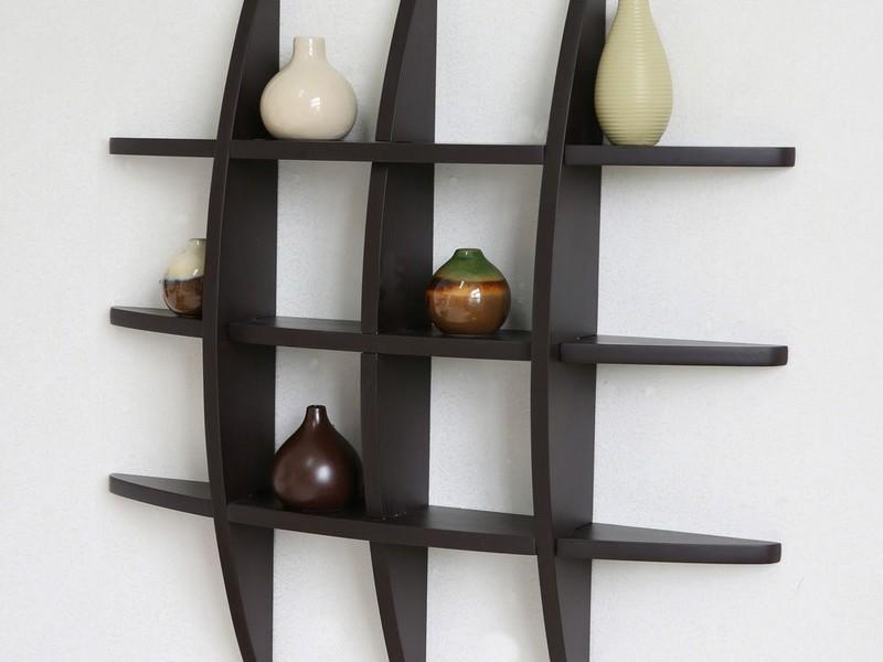 Espresso Wall Shelves