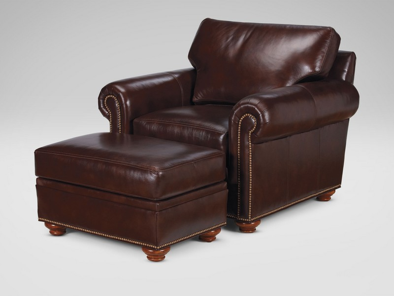 Ethan Allen Conor Leather Sofa