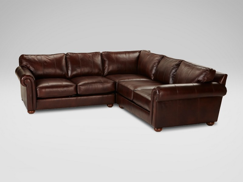 Ethan Allen Leather Sectional Sofas