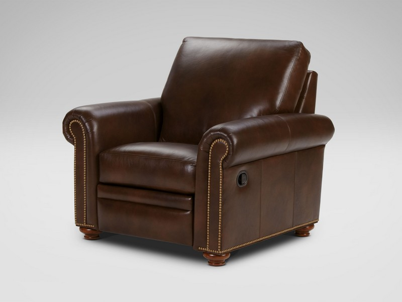 Ethan Allen Leather Sofa Recliner