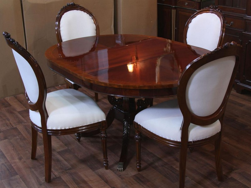 Ethan Allen Round Dining Table With Leaf
