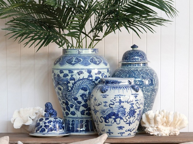 Large White Ginger Jars Home Design Ideas
