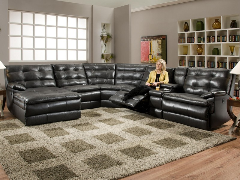 Extra Large Sectional Sofas With Recliners