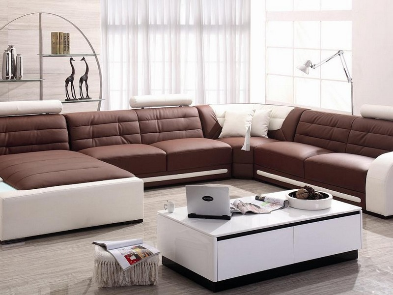 Extra Long Leather Sofa