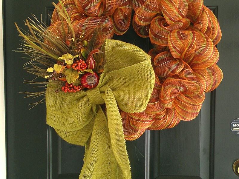 Fall Geo Mesh Wreaths