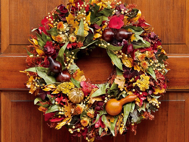 Fall Harvest Wreaths Outdoor