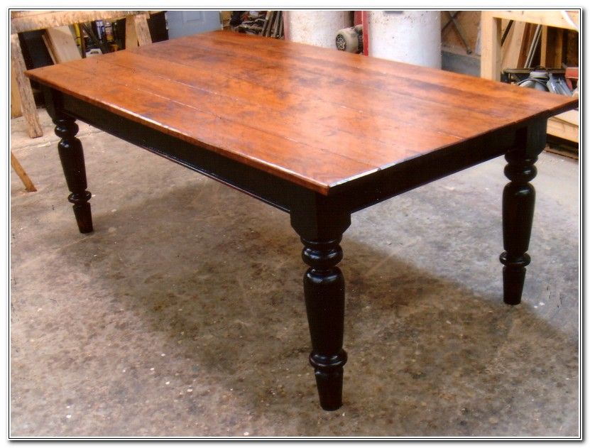 Farmhouse Table Black Legs