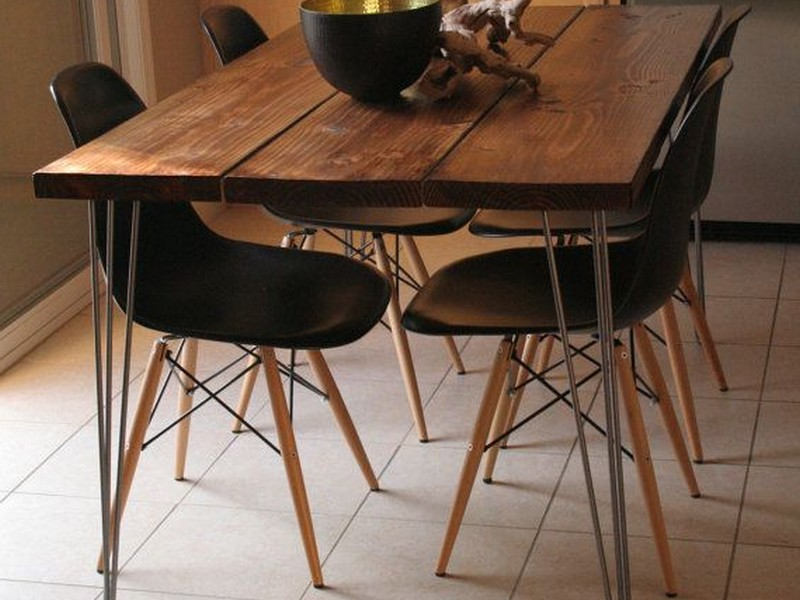 Farmhouse Table Hairpin Legs