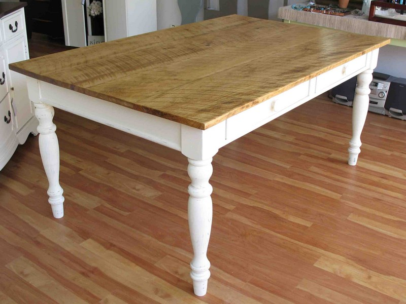 Farmhouse Table White Legs