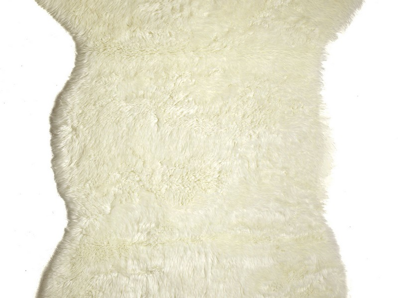 Faux Animal Skin Rugs White