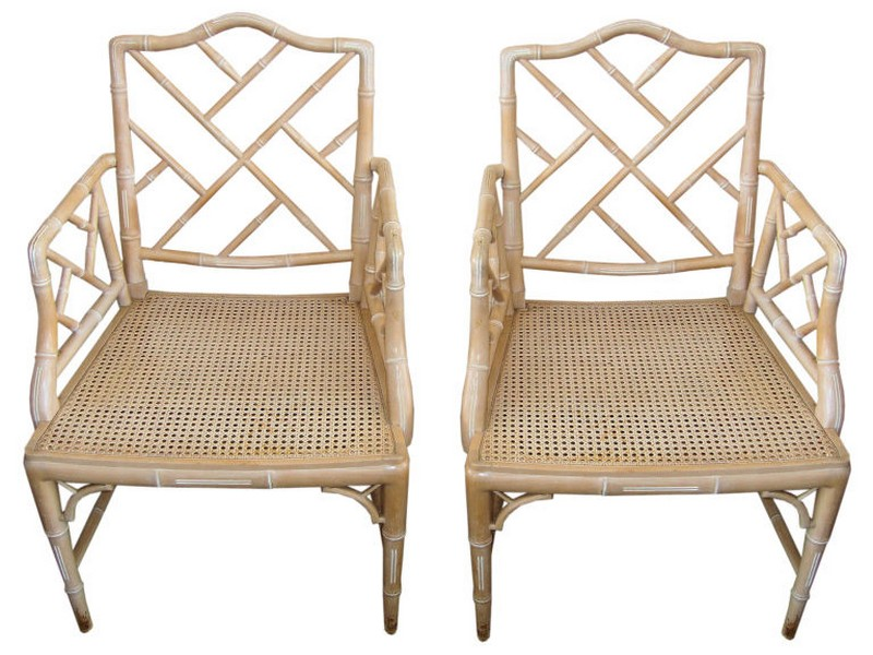 Faux Bamboo Chippendale Chairs