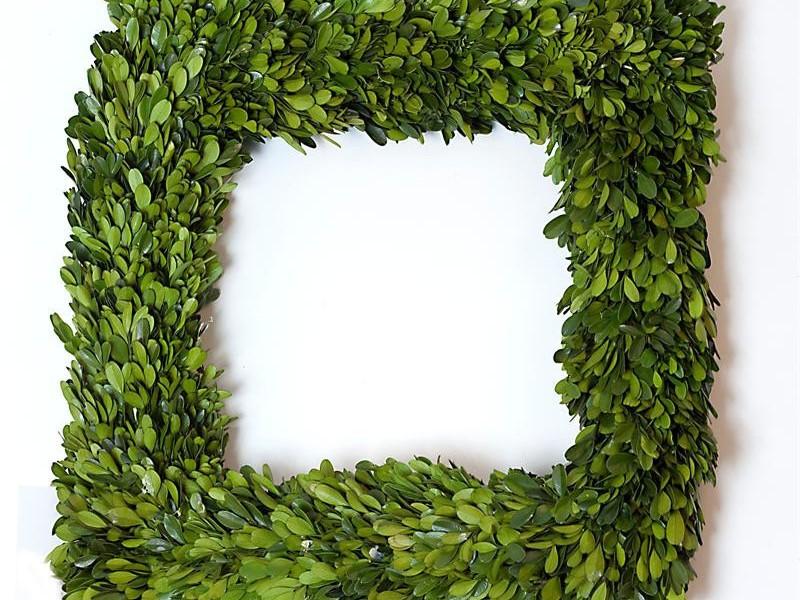 Faux Boxwood Wreath Square
