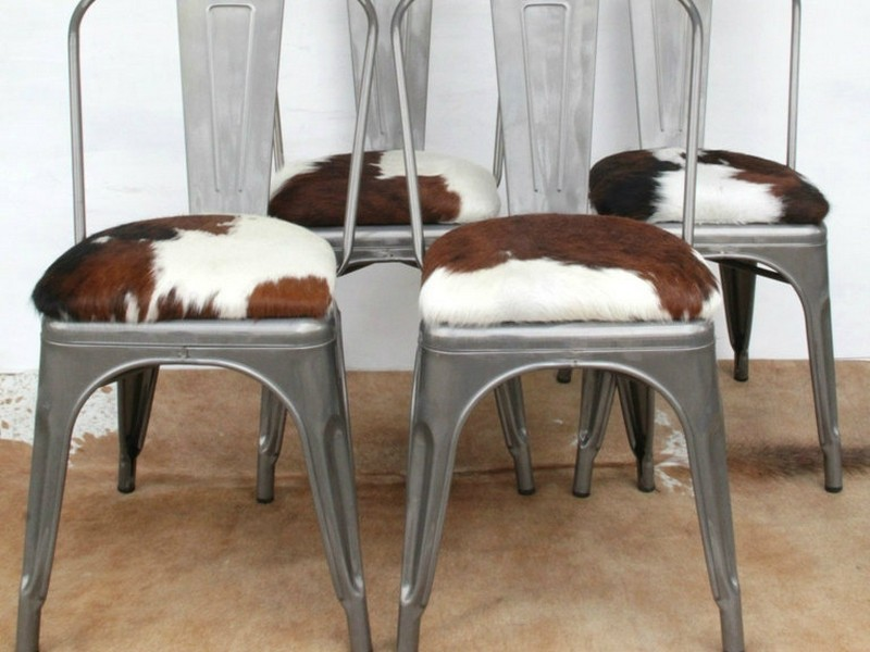 Faux Cowhide Bar Stools