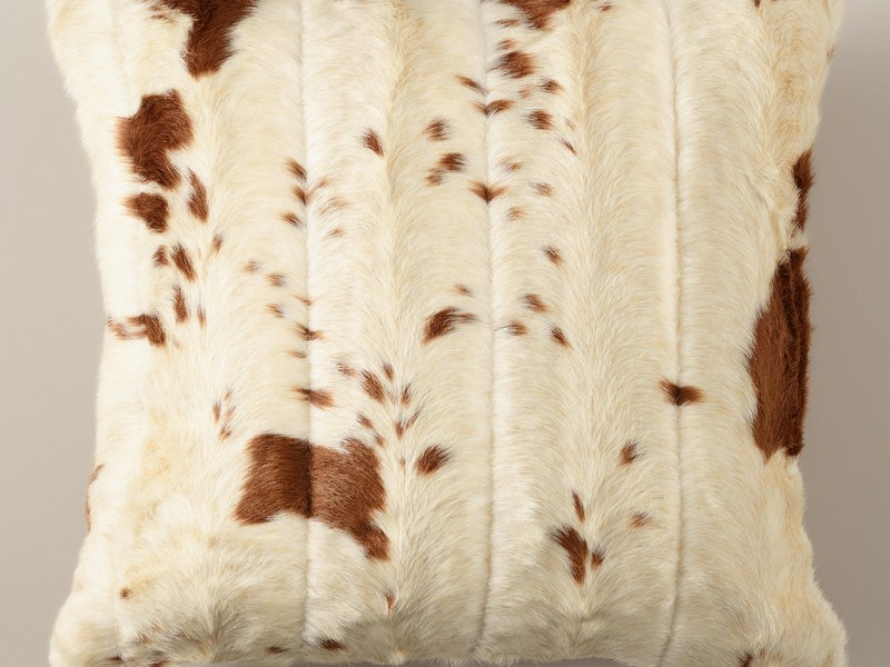 422908 Faux Cowhide Throw Pillow