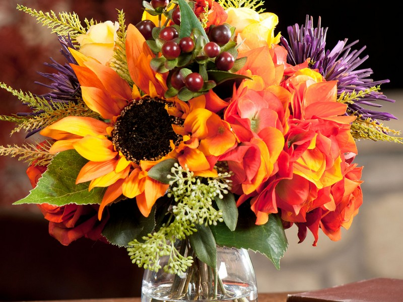 Faux Fall Floral Arrangements