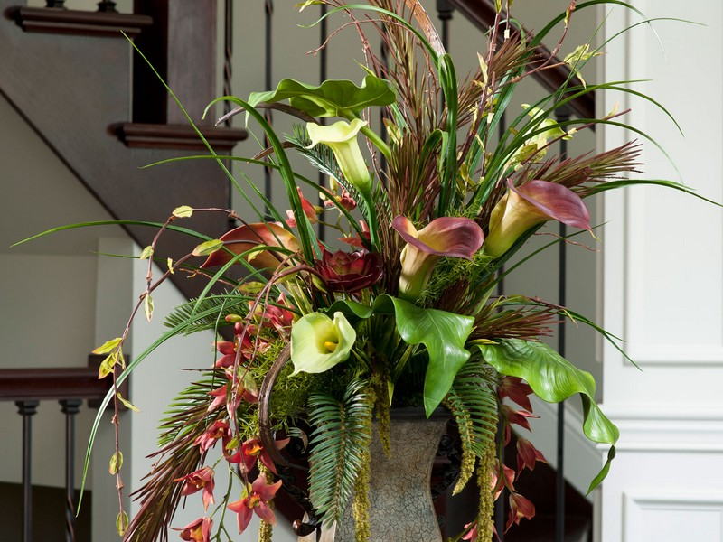 Faux Flower Arrangements Home
