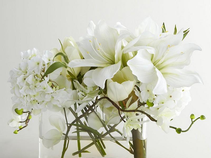 Faux Flower Arrangements Water