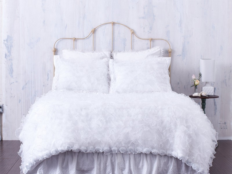 Faux Fur Duvet Cover White
