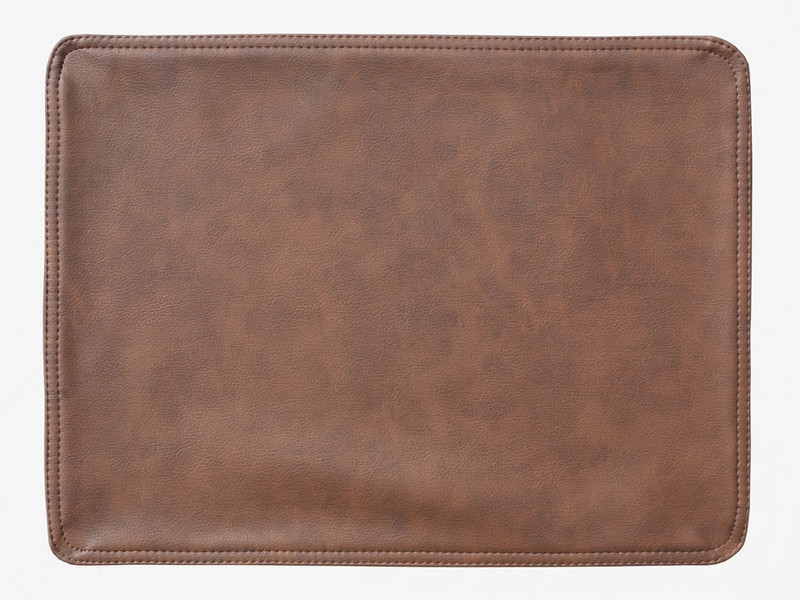 Faux Leather Placemats Brown