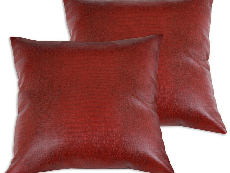Faux Leather Throw Pillows