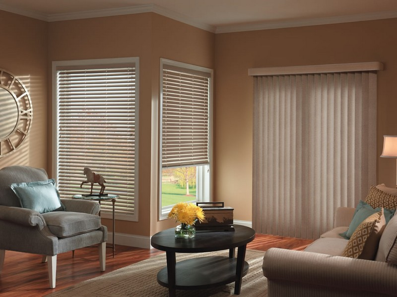 Faux Wood Vertical Blinds