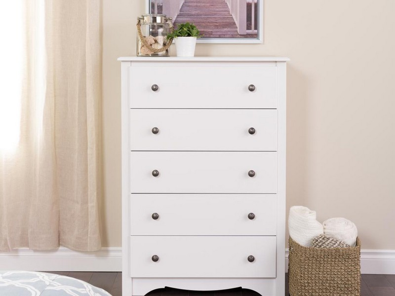 Five Drawer Chest White