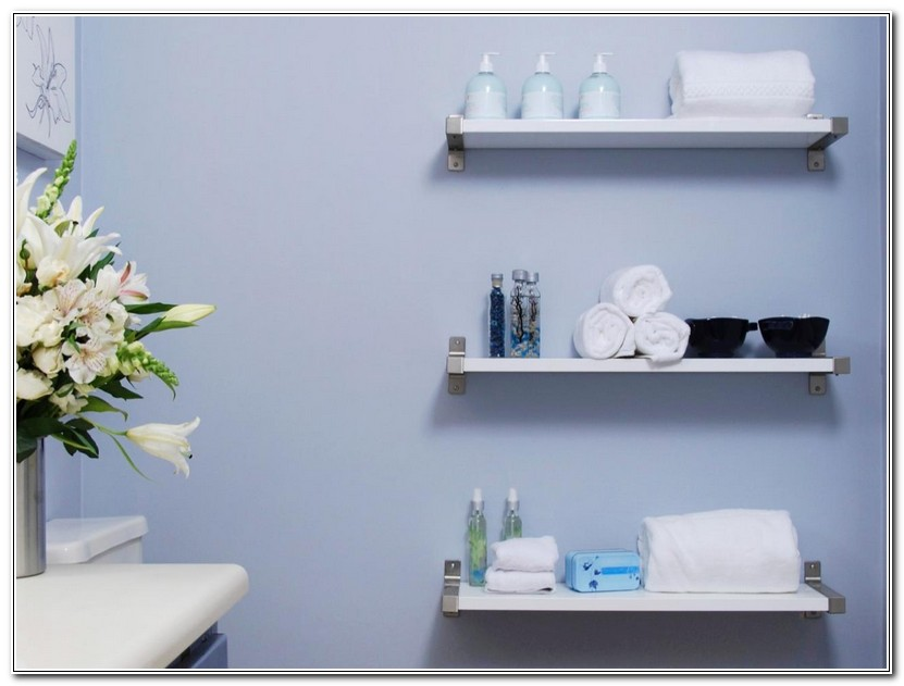 Floating Shelves For Bathroom Towels
