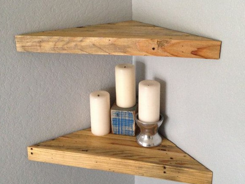 Floating Wood Shelf