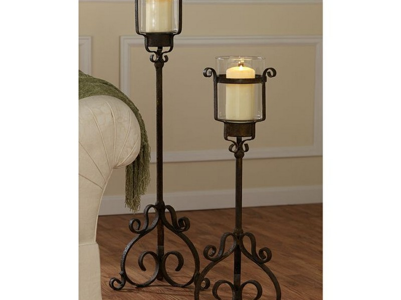 Floor Hurricane Candle Holder Stands