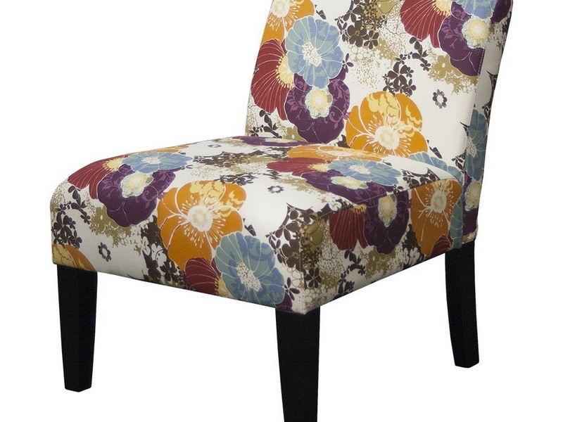 Floral Print Accent Chairs