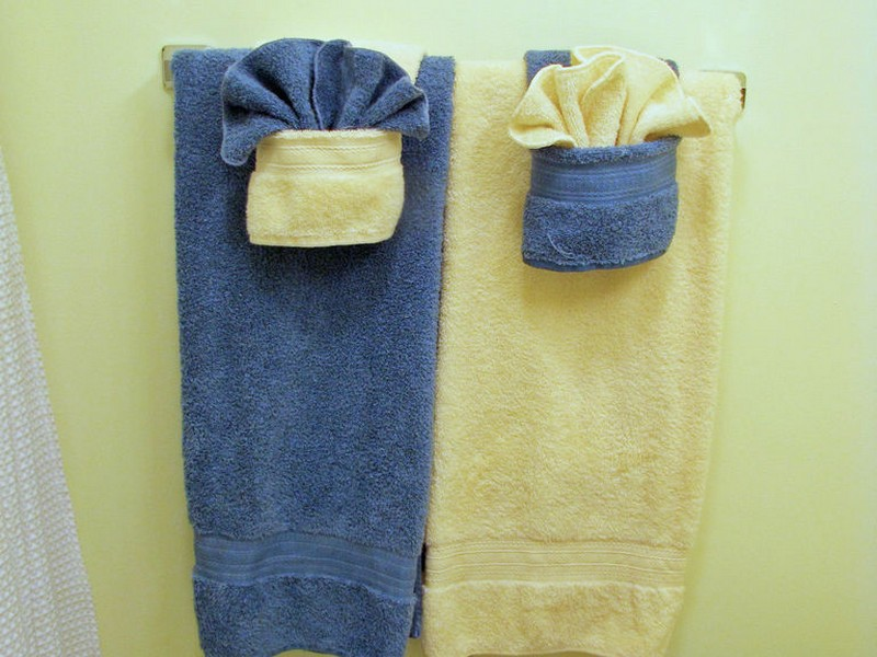 Folding Decorative Towels For Bathroom