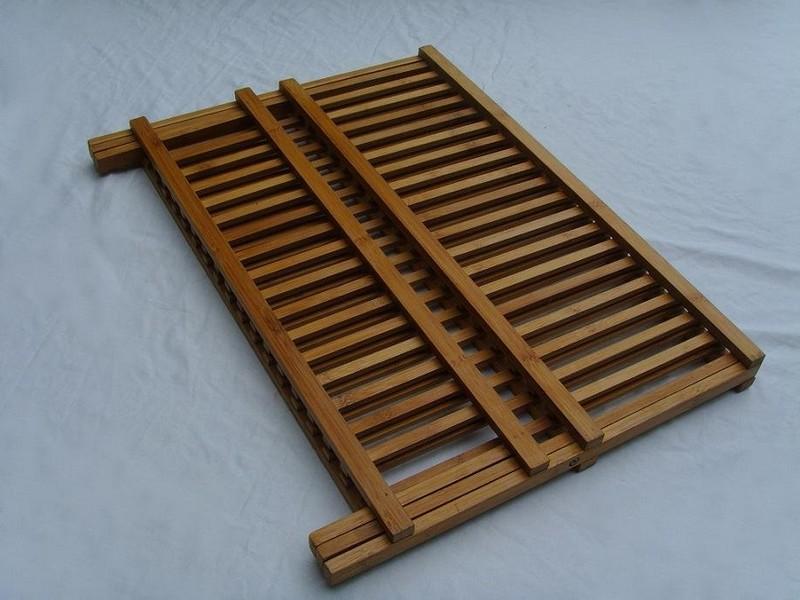 Folding Wood Dish Rack